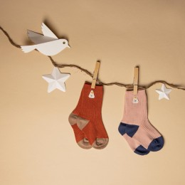 Pink & Red Long Cozy Socks - 2 pack