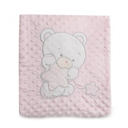 Pink Teddy Double Sided Blanket