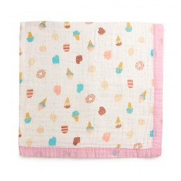 Sugar & Sweet Quilted Muslin Blanket