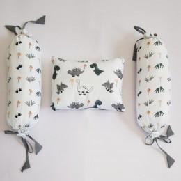 Organic Baby Rai Pillow & Bolster -Dino