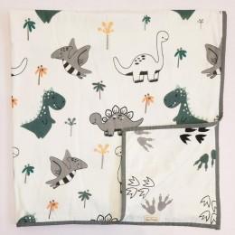 Organic Baby Dohar Blanket - Dino