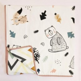 Organic Baby Dohar Blanket - Woodland Friends