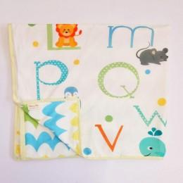 Organic Baby Dohar Blanket - ABCD