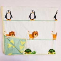 Organic Baby Dohar Blanket - Animals Around The World