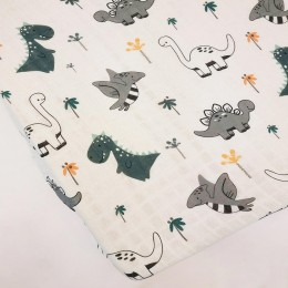 Baby Cot Fitted Sheet - Dino Baby