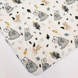 Baby Cot Fitted Sheet - Woodland Friends