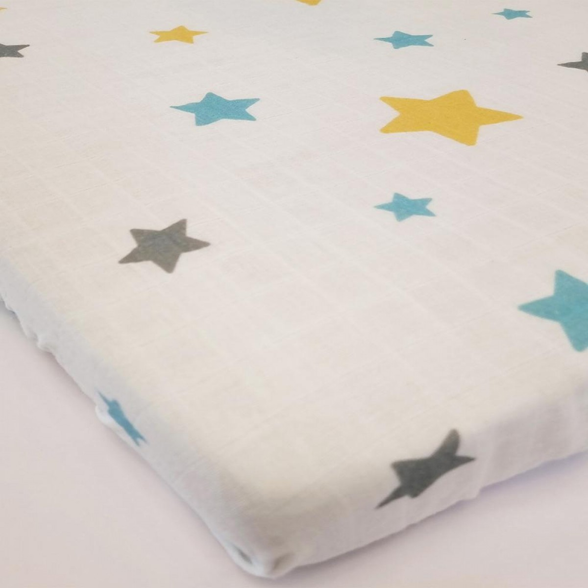 Organic Cot Bedding Set -Sweet Dreams with Moon Plush Pillow