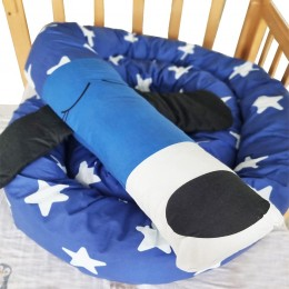 Baby Dog Cot Bumper with Removable Outer Cover, Blue