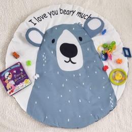 Polar Bear Baby Playmat, Blue