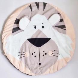 Tiger Baby Playmat, Greyish Orange