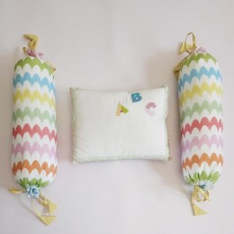 Organic Cotton Pillow & Bolster - ABCD