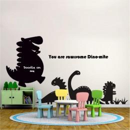 Chalkboard + WhiteBoard -Dinosaur