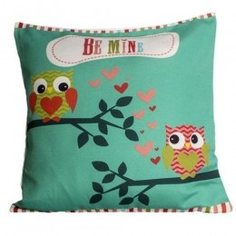 Undercover Owl -Sea Green Cushion Covers
