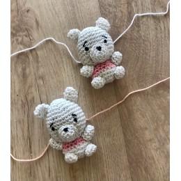 You are Cute like a Teddy Bear Crochet Rakhi