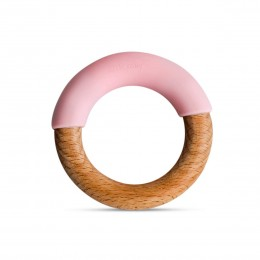 Little Rawr Wood + Silicone Simple Ring -Pink