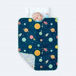 100% Organic Cotton All Weather Quilt - Love you to the Moon