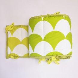 Tropical Baby Cot Bumper, Green
