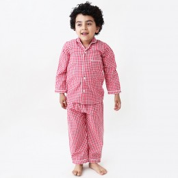 Classic red gingham pajama set
