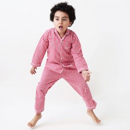 Classic red gingham pajama set