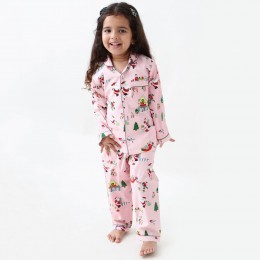 Santa's workshop pajama set - blush pink