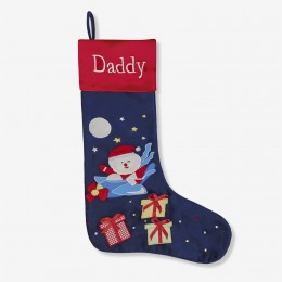 Flying Santa Luxe Stocking