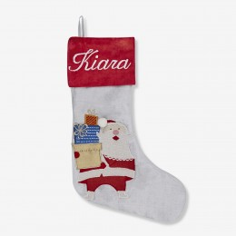 Santa With Gifts Mini Stocking