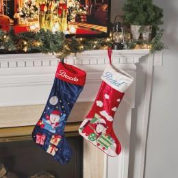 Santa On Train Luxe Stocking