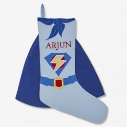 Superhero Linen Stocking