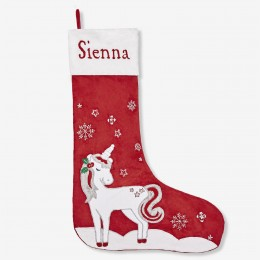 Magical Unicorn Luxe Stocking (red collection)