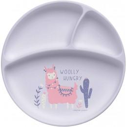 Stephen Joseph Silicone Baby Plate - Llama