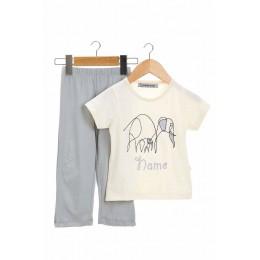 Embroidered Elephant Infant Boys Nightsuit