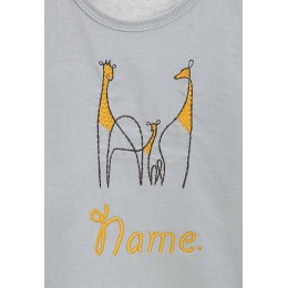 Embroidered Giraffe Infant Boys Nightsuit
