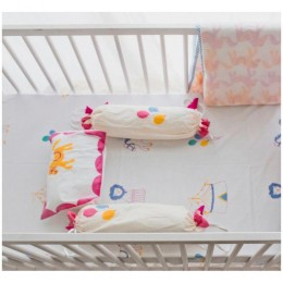 Cot Bedding Set - I Am Going To The Circus - Pink