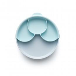 Healthy Meal Suction Plate with Dividers Set Aqua- Aqua