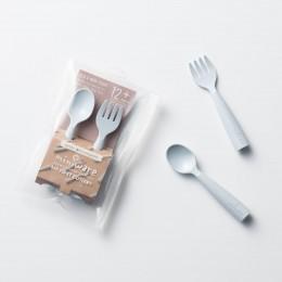 My First Cutlery Fork & Spoon Set Aqua