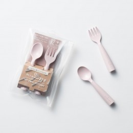 My First Cutlery Fork & Spoon Set Cotton Candy