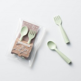 My First Cutlery Fork & Spoon Set Key Lime