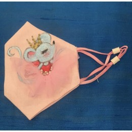 Mouse with Crown & Tutu Mask
