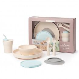Miniware Little Foodie All-in-one Feeding Set Vanilla/Aqua