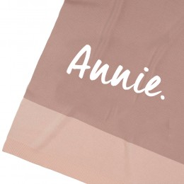 Misty Rose Panel Personalized Organic Cotton Knitted Blanket