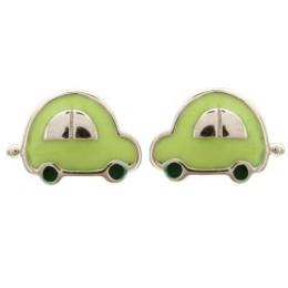 Enamelled Earrings - Cars