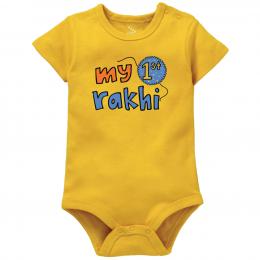 My First Rakhi - Yellow - Onesie
