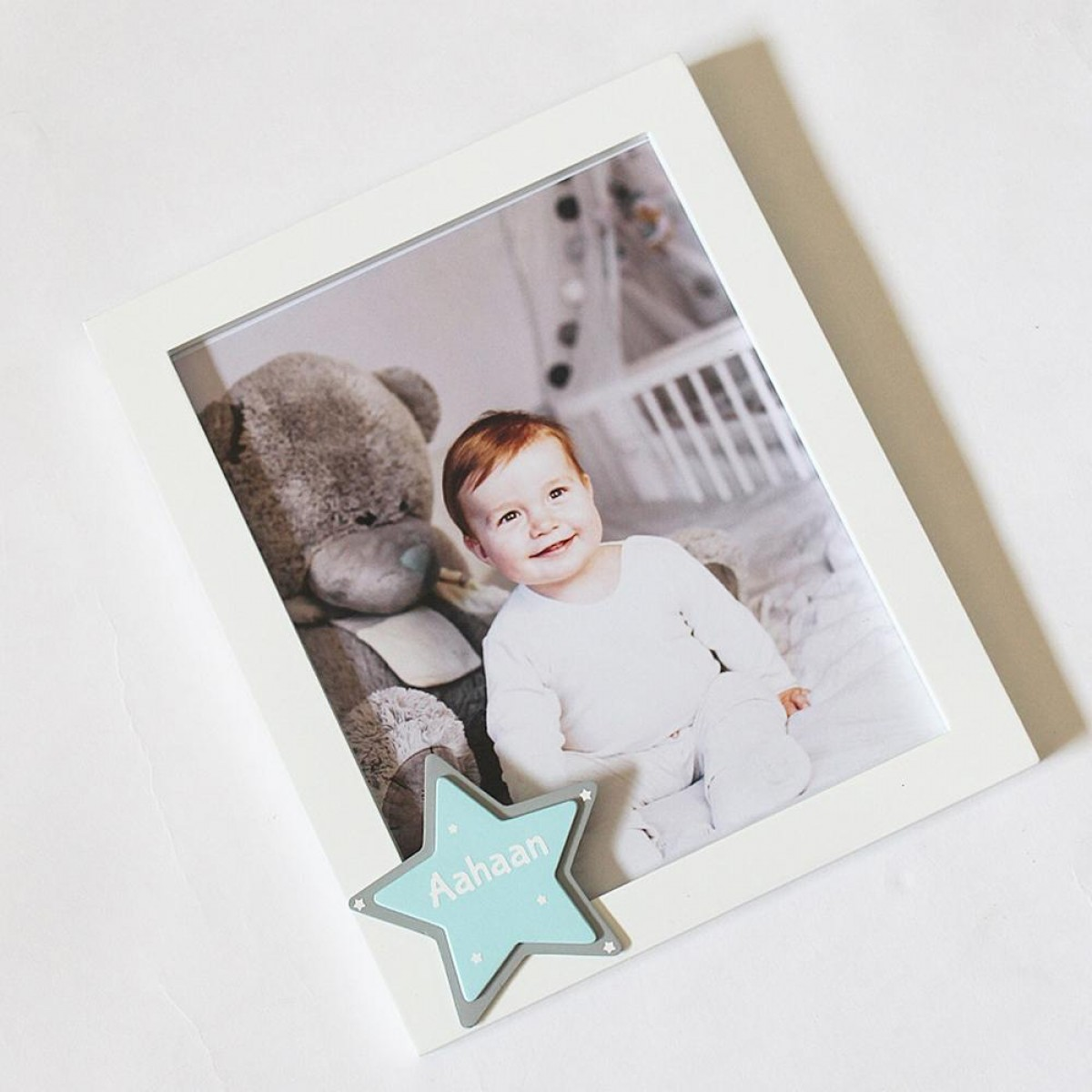 Star Theme Personalized Name Frame - Blue