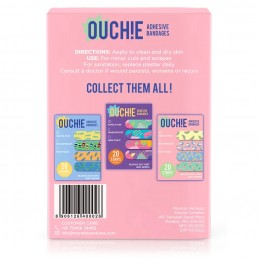 Ouchie Non-Toxic Printed Bandages - 20-pack -Pink