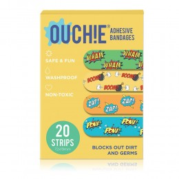 Ouchie Non-Toxic Printed Bandages - 20-pack -Yellow