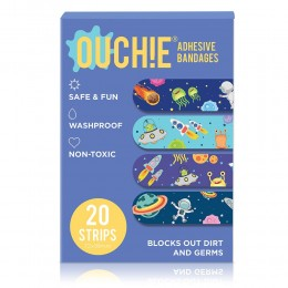 Ouchie Non-Toxic Printed Bandages - 20-pack -Space