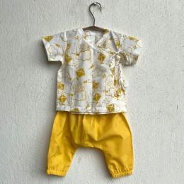 Unisex Organic Patang Angarakha With Yellow Pants