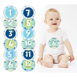 Baby Milestone Stickers - Blue