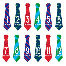 Pearhead Necktie Milestone Stickers Multicolor