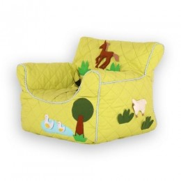 Farm Animal Green Quilted -BeanChair Cover (Small)